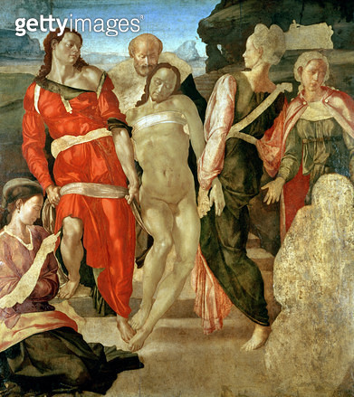 <b>Title</b> : The Entombment (unfinished) (panel)<br><b>Medium</b> : oil on panel<br><b>Location</b> : National Gallery, London, UK<br> - gettyimageskorea