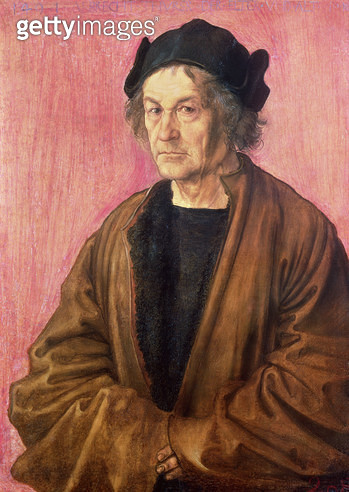 <b>Title</b> : Albrecht Durer's Father, 1497 (panel)<br><b>Medium</b> : oil on lime panel<br><b>Location</b> : National Gallery, London, UK<br> - gettyimageskorea