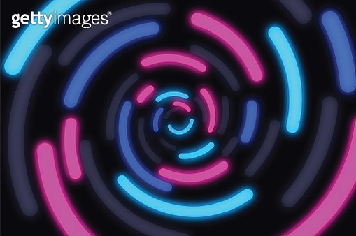 Neon Glow Swirl Abstract Background - gettyimageskorea
