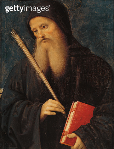 <b>Title</b> : St. Benedict (oil on panel)<br><b>Medium</b> : oil on panel<br><b>Location</b> : Vatican Museums and Galleries, Vatican City, Italy<br> - gettyimageskorea