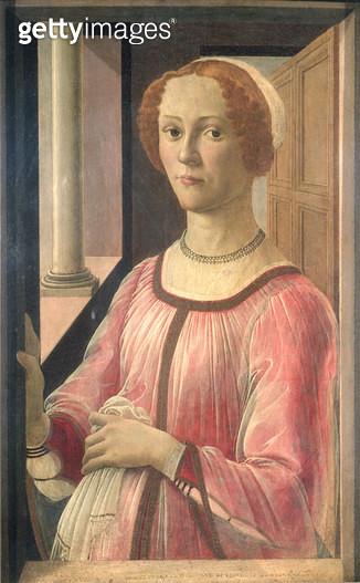 <b>Title</b> : Smeralda Bandinelli, grandmother of the sculptor Baccio Bandinelli, c.1471 (tempera on panel)<br><b>Medium</b> : tempera on panel<br><b>Location</b> : Victoria & Albert Museum, London, UK<br> - gettyimageskorea