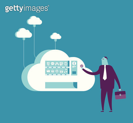 Shopping from cloud vending machine - gettyimageskorea