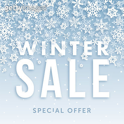 Winter sale banner. - gettyimageskorea