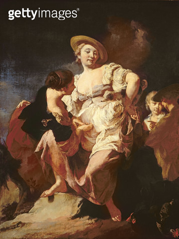 <b>Title</b> : The Fortune-teller (L'Indivona), 1740<br><b>Medium</b> : oil on canvas<br><b>Location</b> : Galleria dell' Accademia, Venice, Italy<br> - gettyimageskorea