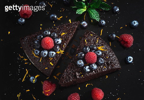 High Angle View Of Dessert On Table - gettyimageskorea