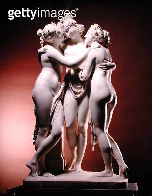 <b>Title</b> : Three Graces (marble)<br><b>Medium</b> : <br><b>Location</b> : Hermitage, St. Petersburg, Russia<br> - gettyimageskorea
