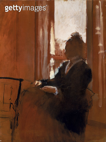 <b>Title</b> : Woman at a Window, c.1871-2 (oil on paper on linen)<br><b>Medium</b> : oil on paper on linen<br><b>Location</b> : Samuel Courtauld Trust, Courtauld Institute of Art Gallery<br> - gettyimageskorea