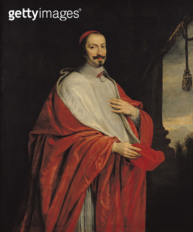 <b>Title</b> : Portrait of Jules Mazarin (1602-61) (oil on canvas)<br><b>Medium</b> : oil on canvas<br><b>Location</b> : Chateau de Versailles, France<br> - gettyimageskorea