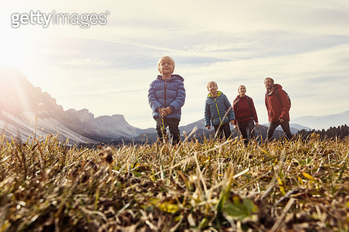 Italy, South Tyrol, Geissler group, family hiking - gettyimageskorea