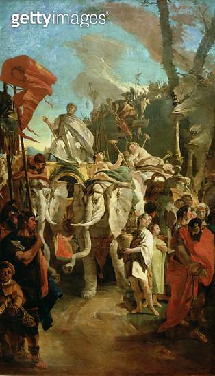 <b>Title</b> : The Triumph of the Commander Manius Curius Dentatus, 1725-30<br><b>Medium</b> : oil on canvas<br><b>Location</b> : Hermitage, St. Petersburg, Russia<br> - gettyimageskorea