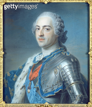 <b>Title</b> : Portrait of King Louis XV (1710-74) 1748 (pastel)<br><b>Medium</b> : pastel<br><b>Location</b> : Louvre, Paris, France<br> - gettyimageskorea