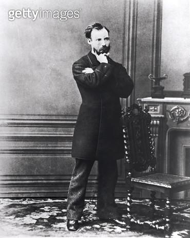 <b>Title</b> : Auguste Renoir (1841-1919) (b/w photo)<br><b>Medium</b> : black and white photograph<br><b>Location</b> : Musee Marmottan, Paris, France<br> - gettyimageskorea