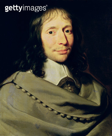 <b>Title</b> : Blaise Pascal (1623-62) (oil on canvas)<br><b>Medium</b> : oil on canvas<br><b>Location</b> : Private Collection<br> - gettyimageskorea
