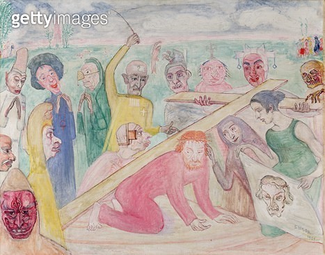 <b>Title</b> : La Montee Au Calvaire - The Road to Calvary, 1924<br><b>Medium</b> : oil on canvas<br><b>Location</b> : Private Collection<br> - gettyimageskorea