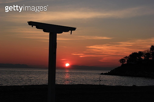 Sunset on Aegean sea. Athens - gettyimageskorea