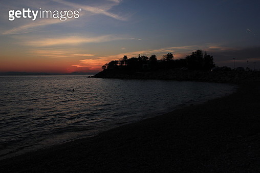 Sunset on the coast. Athens - gettyimageskorea