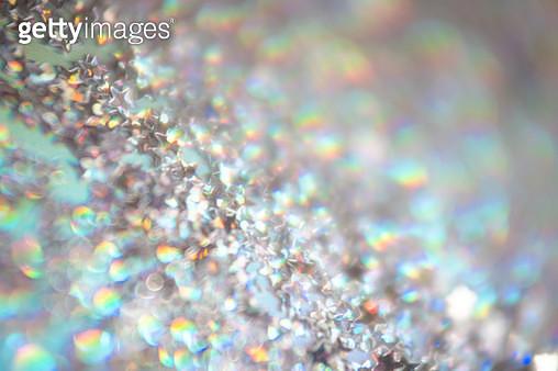 Star shape glitter on hologram color paper - gettyimageskorea