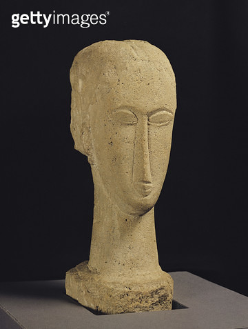 <b>Title</b> : Head, c.1911-12 (stone)<br><b>Medium</b> : stone<br><b>Location</b> : Perls Gallery, New York, USA<br> - gettyimageskorea