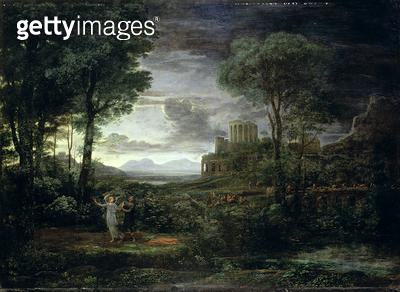 <b>Title</b> : Landscape with Jacob Wrestling with the Angel, or Night, 1672<br><b>Medium</b> : oil on canvas<br><b>Location</b> : Hermitage, St. Petersburg, Russia<br> - gettyimageskorea