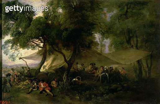 <b>Title</b> : Respite from War, 1712-15 (oil on copper)<br><b>Medium</b> : oil on copper<br><b>Location</b> : Hermitage, St. Petersburg, Russia<br> - gettyimageskorea