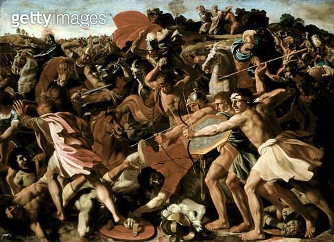 <b>Title</b> : Victory of Joshua over the Amalekites, 1625-6<br><b>Medium</b> : oil on canvas<br><b>Location</b> : Hermitage, St. Petersburg, Russia<br> - gettyimageskorea