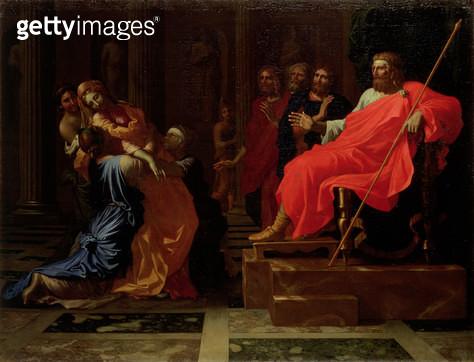 <b>Title</b> : Esther before Ahasuerus, late 1650s<br><b>Medium</b> : oil on canvas<br><b>Location</b> : Hermitage, St. Petersburg, Russia<br> - gettyimageskorea