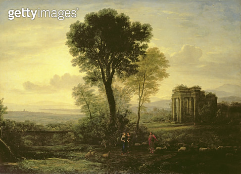 <b>Title</b> : Morning (Landscape with Jacob, Rachel and Leah by the Well), 1666<br><b>Medium</b> : oil on canvas<br><b>Location</b> : Hermitage, St. Petersburg, Russia<br> - gettyimageskorea