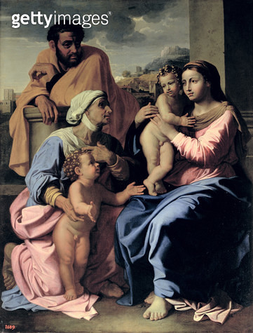 The Holy Family with St. Elizabeth and John the Baptist/ 1655 - gettyimageskorea