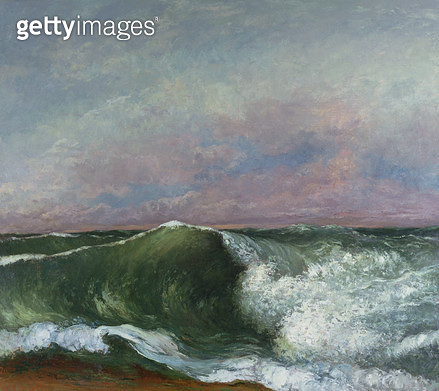 <b>Title</b> : The Wave, 1870 (oil on canvas)<br><b>Medium</b> : <br><b>Location</b> : Private Collection<br> - gettyimageskorea