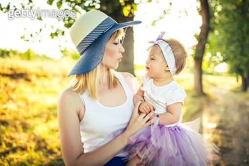 Mommy and Baby Girl - gettyimageskorea