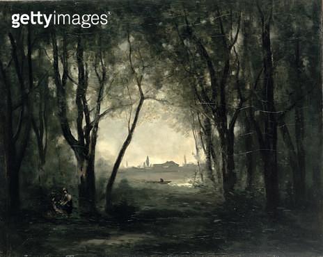 <b>Title</b> : Landscape with a Lake, 1860-73<br><b>Medium</b> : oil on canvas<br><b>Location</b> : Hermitage, St. Petersburg, Russia<br> - gettyimageskorea