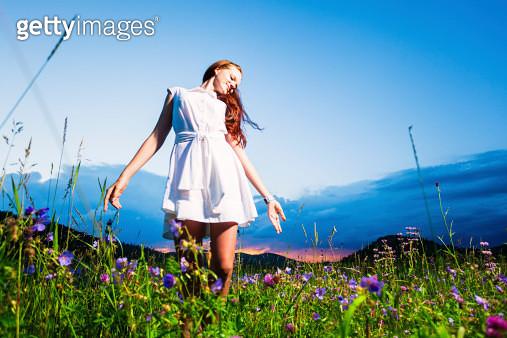 Beautiful woman in nature - gettyimageskorea