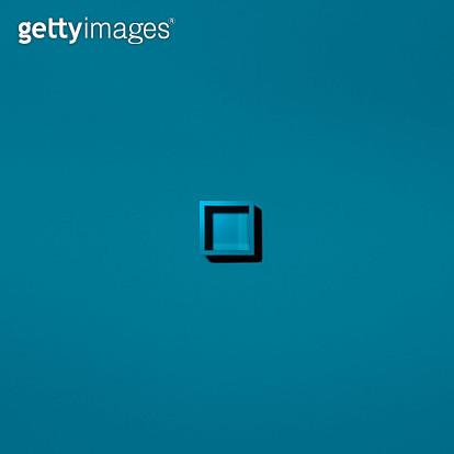 Cyan square object on cyan - gettyimageskorea