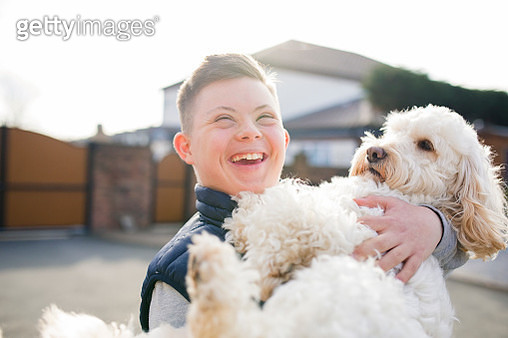 Quality Time with the Dog - gettyimageskorea
