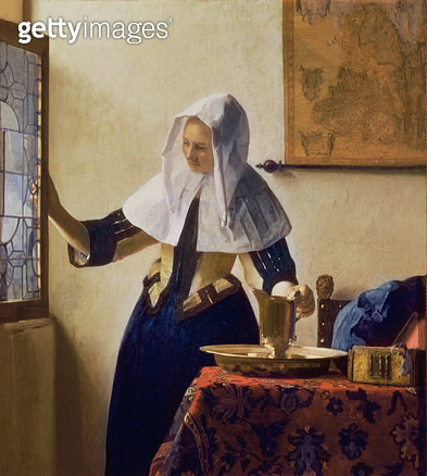 <b>Title</b> : Young Woman with a Water Jug, c.1662 (oil on canvas)<br><b>Medium</b> : oil on canvas<br><b>Location</b> : Metropolitan Museum of Art, New York, USA<br> - gettyimageskorea