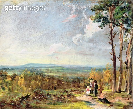 <b>Title</b> : Hampstead Heath Looking Towards Harrow, 1821 (oil on paper laid on canvas)<br><b>Medium</b> : oil on paper laid on canvas<br><b>Location</b> : Yale Center for British Art, Paul Mellon Collection, USA<br> - gettyimageskorea