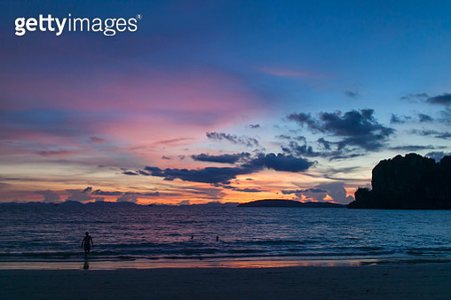 Sunset in Railay Beach at Krabi - gettyimageskorea