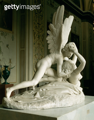 <b>Title</b> : Cupid and Psyche, 1796 (marble)<br><b>Medium</b> : marble<br><b>Location</b> : Hermitage, St. Petersburg, Russia<br> - gettyimageskorea