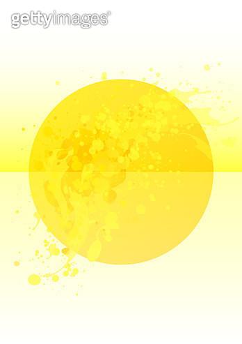 Bright yellow circle splash poster background - gettyimageskorea