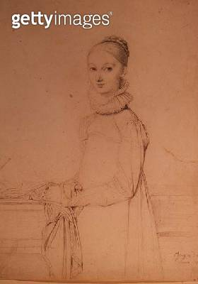 <b>Title</b> : Portrait of a Young Girl, 1815 (graphite pencil)<br><b>Medium</b> : graphite pencil on paper<br><b>Location</b> : Hermitage, St. Petersburg, Russia<br> - gettyimageskorea