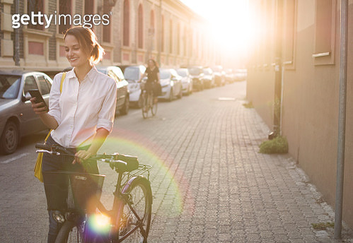 Back from work on my bicycle - gettyimageskorea
