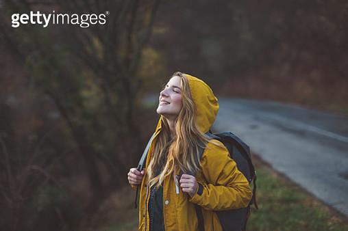 Joyful woman in nature - gettyimageskorea