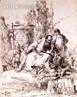 <b>Title</b> : Sorcerer Examining Skulls (etching)<br><b>Medium</b> : etching<br><b>Location</b> : Hermitage, St. Petersburg, Russia<br> - gettyimageskorea