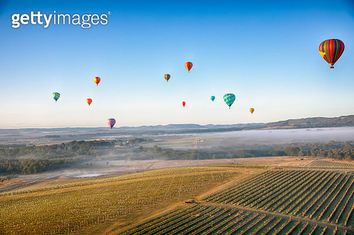 Ballooning over the Hunter Valley - gettyimageskorea