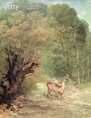 <b>Title</b> : The Hunted Roe-Deer on the alert, Spring, 1867<br><b>Medium</b> : oil on canvas<br><b>Location</b> : Musee d'Orsay, Paris, France<br> - gettyimageskorea