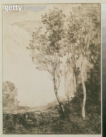 <b>Title</b> : Memory of Italy, 1863 (drypoint)<br><b>Medium</b> : drypoint on Chinese backing<br><b>Location</b> : Hermitage, St. Petersburg, Russia<br> - gettyimageskorea