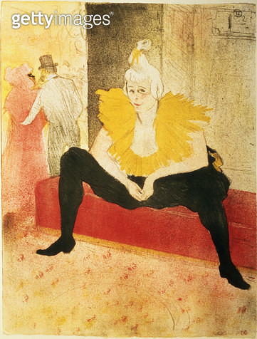 <b>Title</b> : Seated Female Clown, Mlle. Cha-U-Kao, 1896 (litho)<br><b>Medium</b> : lithograph<br><b>Location</b> : Hermitage, St. Petersburg, Russia<br> - gettyimageskorea