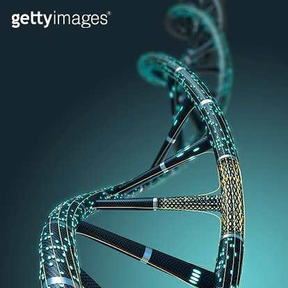 Artificial DNA molecule, illustration. - gettyimageskorea