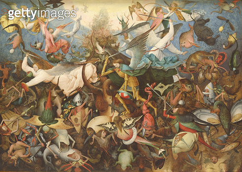 <b>Title</b> : The Fall of the Rebel Angels, 1562 (oil on panel)<br><b>Medium</b> : oil on panel<br><b>Location</b> : Musees Royaux des Beaux-Arts de Belgique, Brussels, Belgium<br> - gettyimageskorea