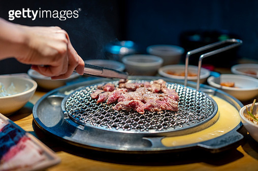 Korean Barbecue and Side Dishes - gettyimageskorea